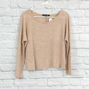 Forever 21 | Soft Tan Cropped LS Sweater